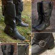 Buckled Calf High Pirate / Highwayman Boots